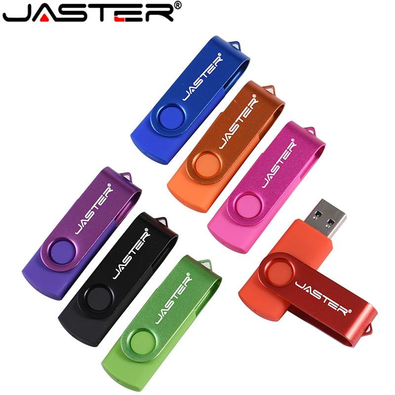 USB JASTER Flash personalizar logotipo pendrive 4GB 16GB 32GB 64GB USB 2,0 para boda pluma para regalo coche Clef USB (más de 10 Uds LOGO gratis)