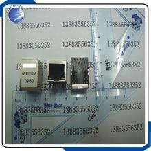 10 stks/partij RJ-45 joint met lamp transformator netwerk met HR911105A ingebouwde transformator netwerk