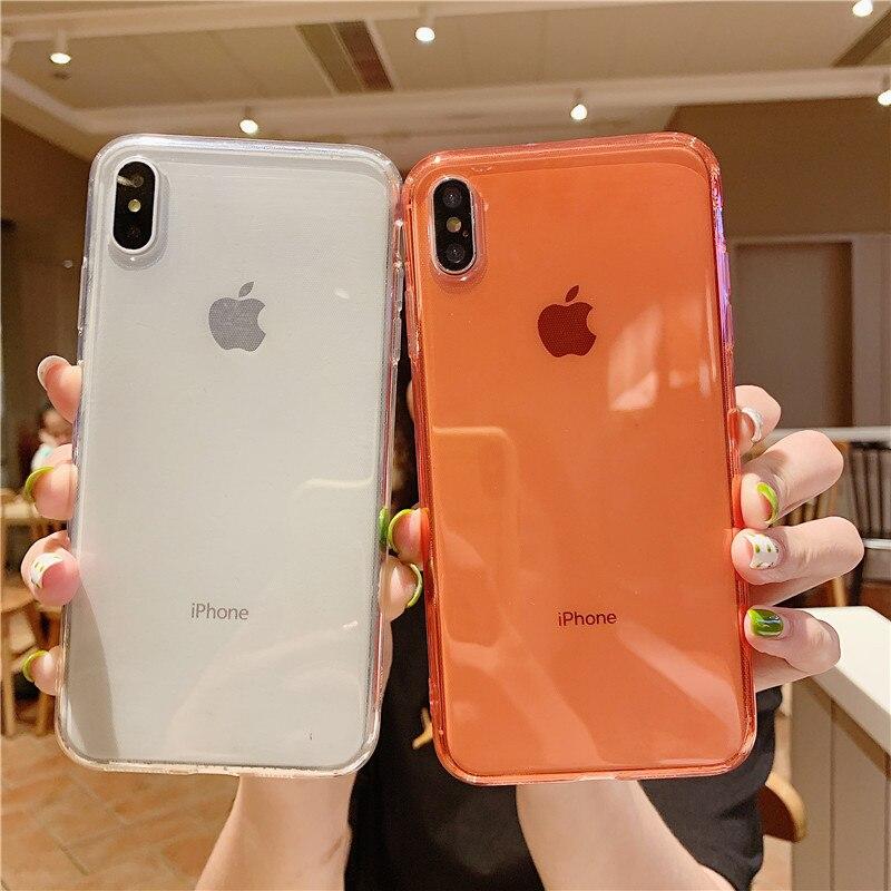 Прозрачный чехол без рамки для iphone 7, чехол для iPhone X XS Max XR 7 8 6 6S Plus, задняя крышка, прозрачные мягкие силиконовые чехлы для телефонов