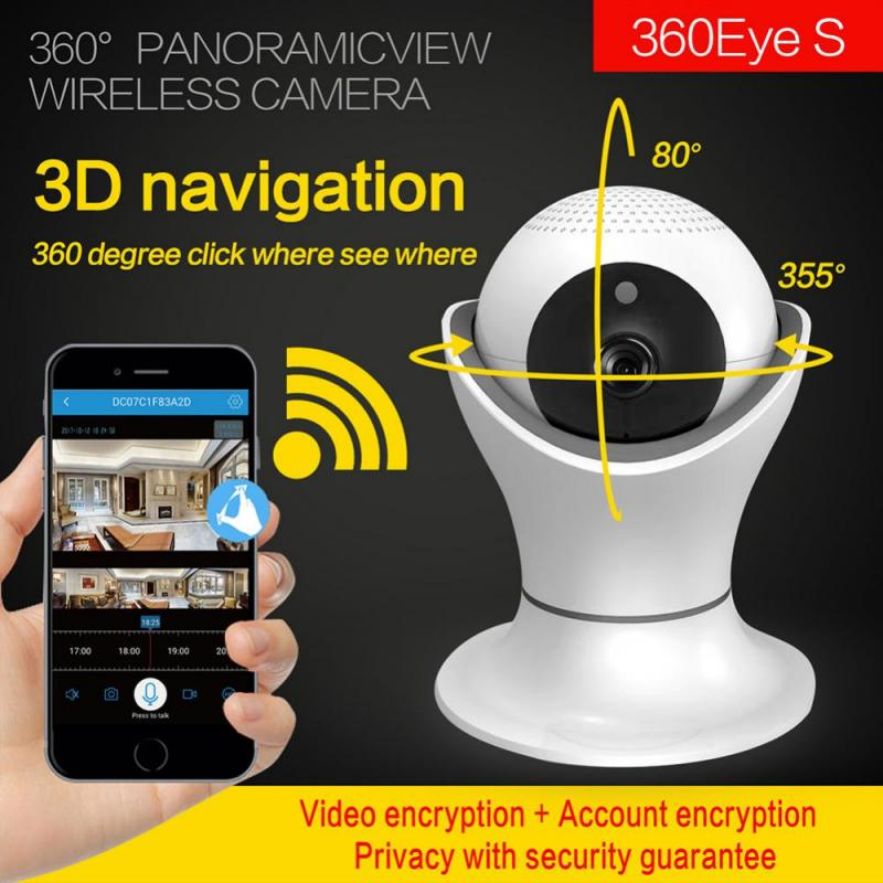 360 Degre Smart Sensor Wifi Cámara 1080P FHD Cámara Wifi panorámica para el hogar seguridad Cam puerta Hardware Set