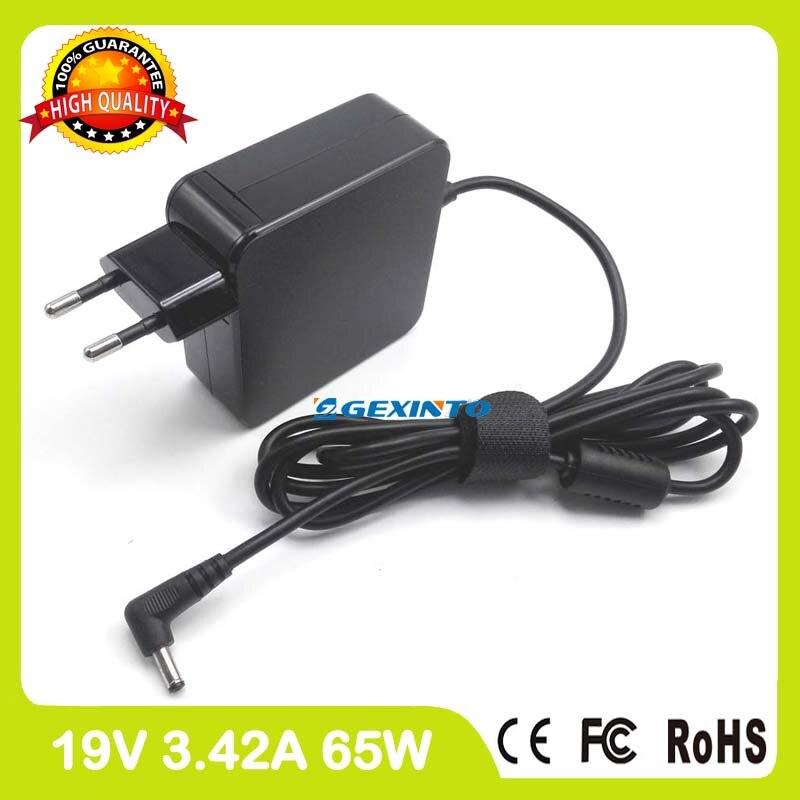 65 w 19 v 3.42A laptop charger AC Power Adapter para Asus R516UB R516UW R518UB R518UQ R540UP R540UV R558U R558UF r558UJ Plugue DA UE
