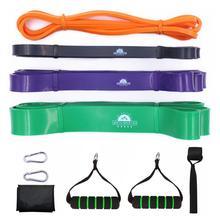 Conjunto de bandas de resistencia para ayudar a levantar la fuerza de alta resistencia, bandas expansoras elásticas, equipo de entrenamiento para gimnasio y Fitness
