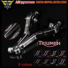 Sliver+Titanium Adjustable Folding Extendable Motorcycle Brake Clutch Levers For Triumph TIGER 800 XC/XCX/XR/XRX 2015 2016 2017