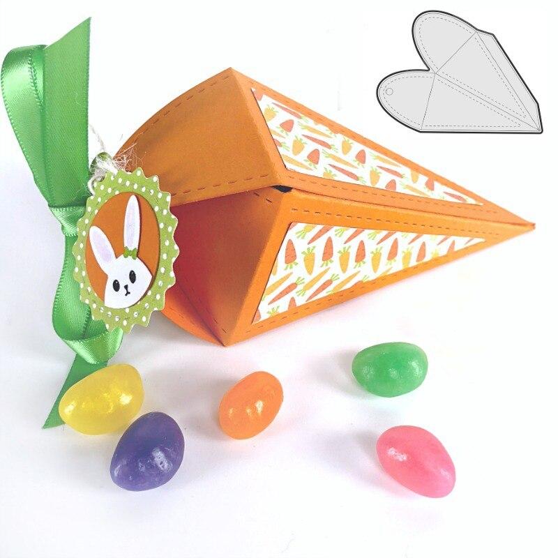 Estel de Pascua de troqueles de acero zanahoria tratar titular morir relieve plantilla para DIY Scrapbooking Tarjeta de álbum decorativo
