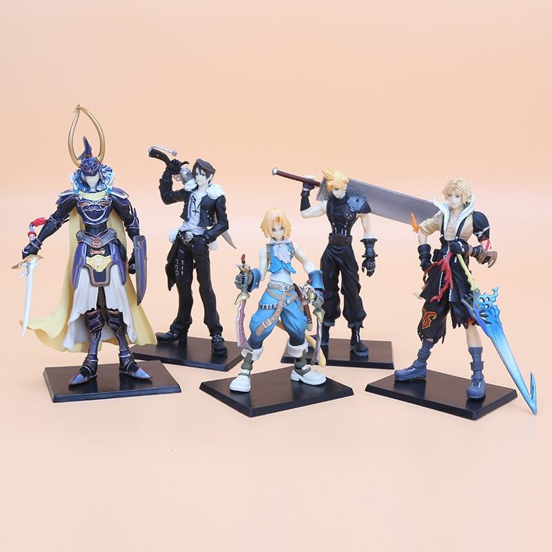 5 unids/set Final fantasía figura juguetes personaje FF sólido set el primer PVC modelo de figuras de acción colección juguetes regalo