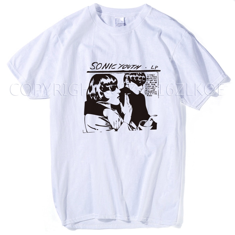 Sônico juventude t shirt masculino engraçado goo clássico rock roll vocais banda baixo guitarra punk rock feminino persionalizado topos t plus size 3xl