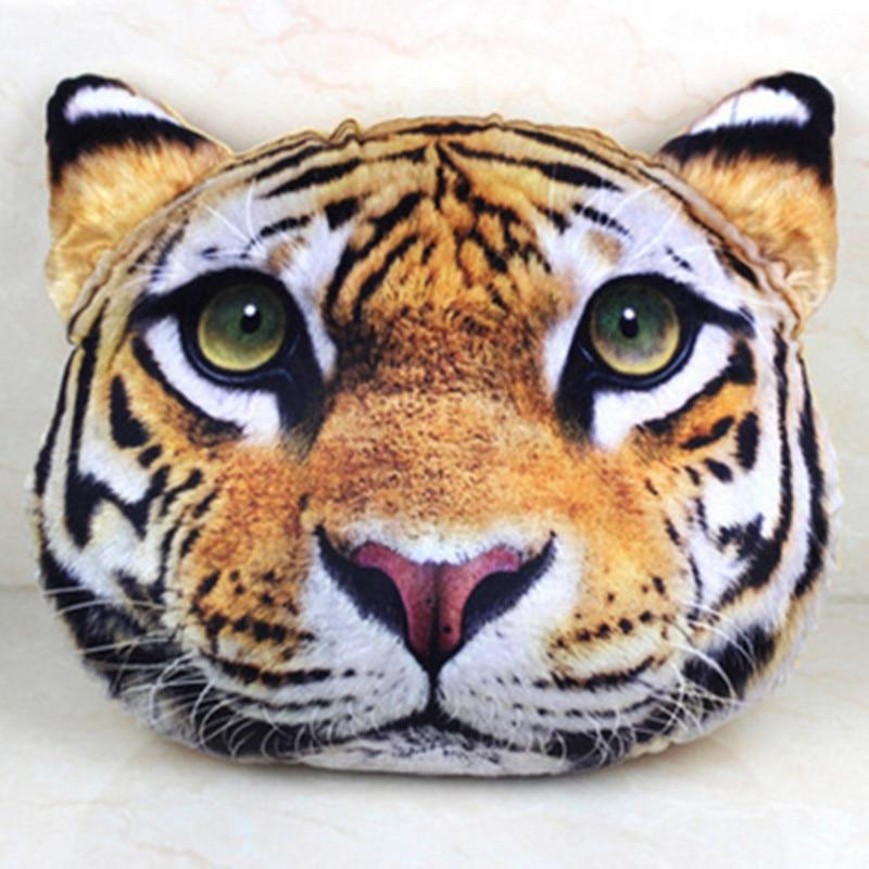 Nueva almohada León Tigre leopardo almohada adorable animal de dibujos animados 3D enviar Regalo de Cumpleaños almohada y marea creativa