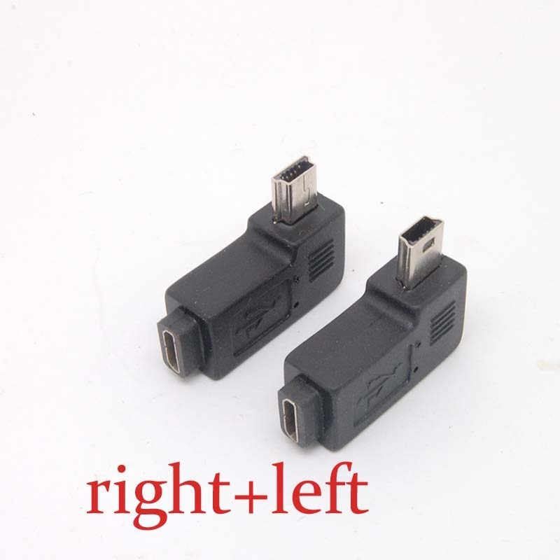 Mini USB Typ A stecker auf Micro USB B weibliche 90 Grad rechts/links Winkel Adapter Freies verschiffen