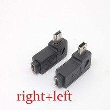 Mini USB Type A male naar Micro USB B feMale 90 Graden rechts/links Hoek Adapter Gratis verzending