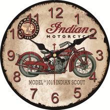 Horloge murale silencieuse pour cuisine café   Horloge au Design Chic pour moto, horloge pour la maison, horloge murale, Art Vintage grand mur