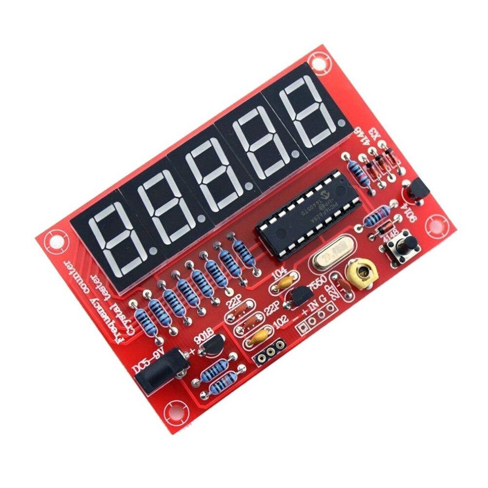 1Hz-50 Mhz Digitale Led Crystal Oscillator Tester Frequentie Counter Meter Rf Elektronische Diy Kits Gereedschap Pcb Board module