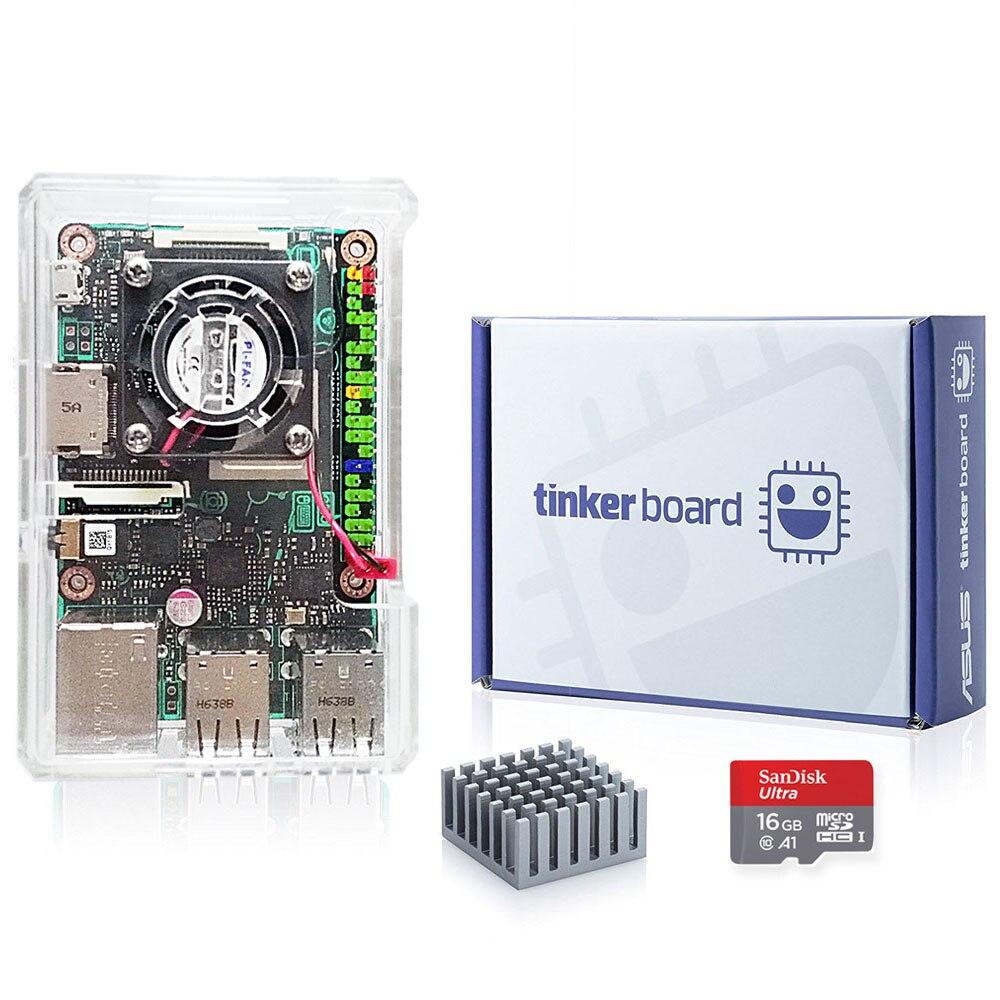 ASUS SBC Tinker Junta RK3288 SoC Quad Core de 1,8 GHz CPU 600MHz Mali-T764 GPU 2GB LPDDR3 pensador Junta/tinkerboard con tarjeta TF