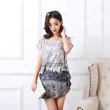 2020 été femmes décontracté impression mode à manches courtes t-shirt hauts & t-shirts pull ample mode tunique grande taille L-5XL