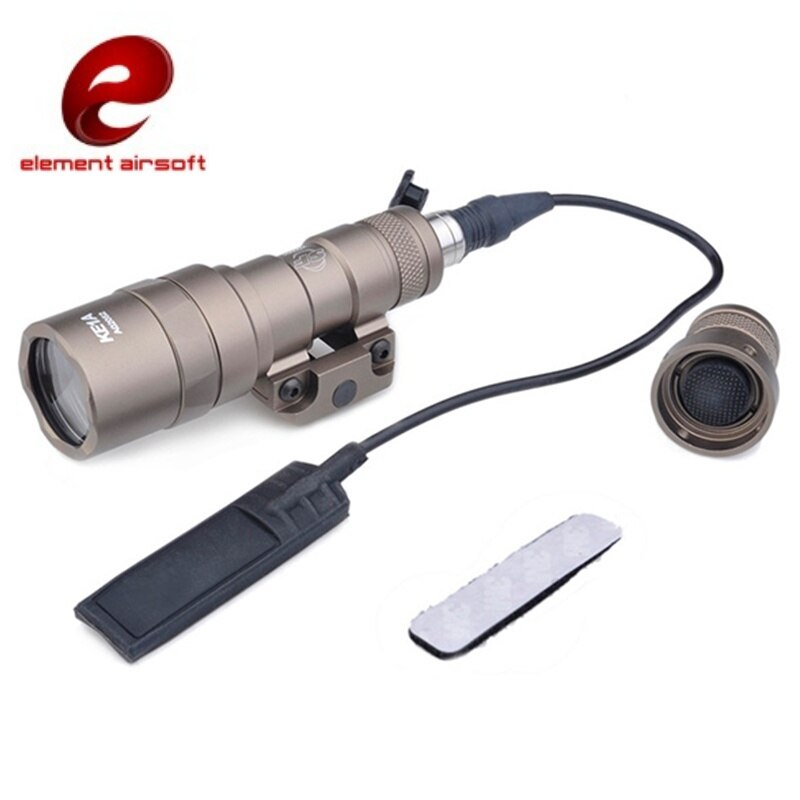 Elemento m300b tático arma luz led lanterna airsoft caça mini scout luz ex358