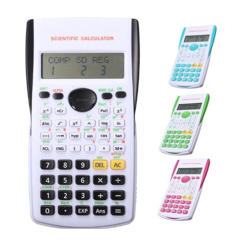 Calculadora portátil multifuncional 2018, calculadora cientifica para enseñanza de matemáticas, calculadora de pantalla de funciones para estudiantes