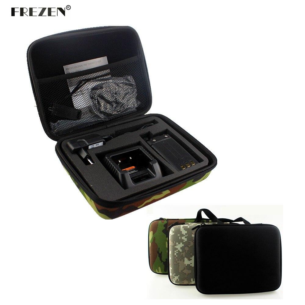 Caso de rádio em dois sentidos carring bolsa armazenamento para baofeng UV-5R UV-5RE + tyt TH-F8 walkie talkie lançamento caça saco camuflagem rádio