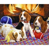 cute dogs picture handmake needlework inlay diy diamond painting square resin diamond embroidery wall stickers home decor a5087r