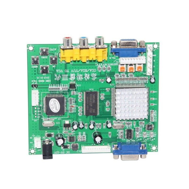 GBS8200/HD9800 RCA в VGA конвертер плата расширенное устройство декодирования видео RGB CGA EGA YUV в VGA HD видео конвертер плата moulle