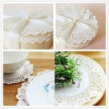 100pcs Lace Coaster Placemat Cushion Mug Holder Tea Cup Pad Mat Wedding Party Nov-11A