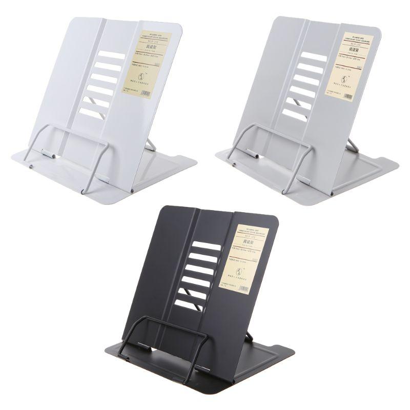 Портативный металлический Регулируемый держатель для книг для чтения, подставка для документов