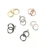 1115mm 30pcslot earring hook clasps silverrose gold plated brass french lever earring hooks wire settings base settings z299