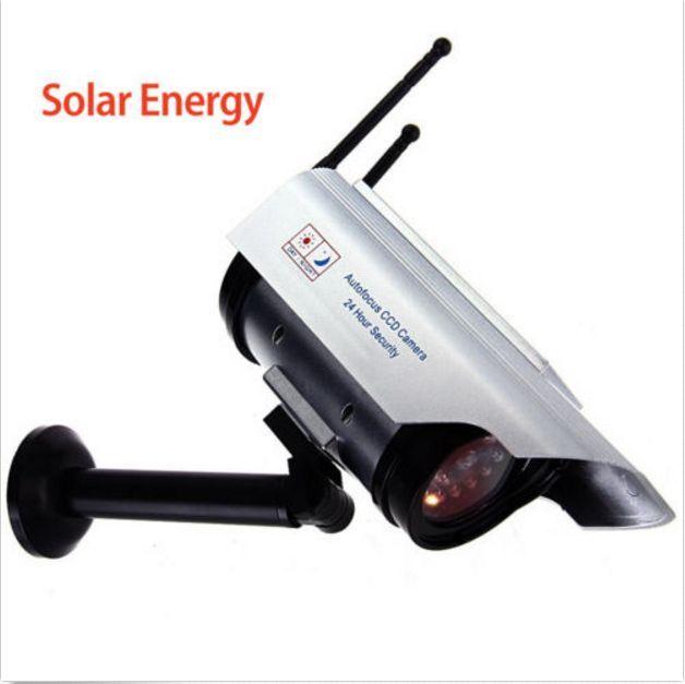 Outdoor Solar Powered CCTV Dummy Decoy Security Surveillance Camera with IR LED