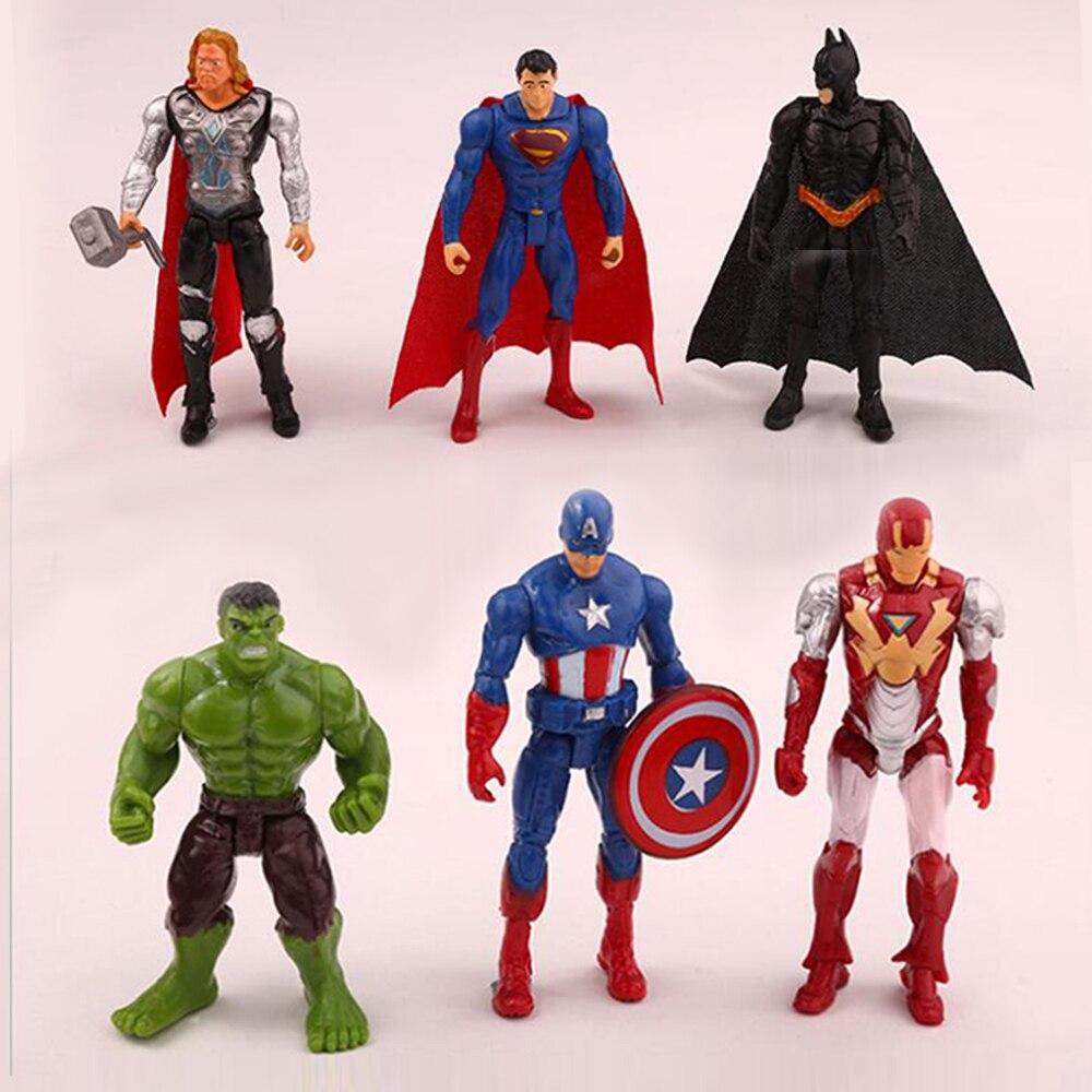 Disney Manway Мстители, Супермен, американский капитан рейтеон, Халк, подвижный торт, Топпер, креативные детские куклы