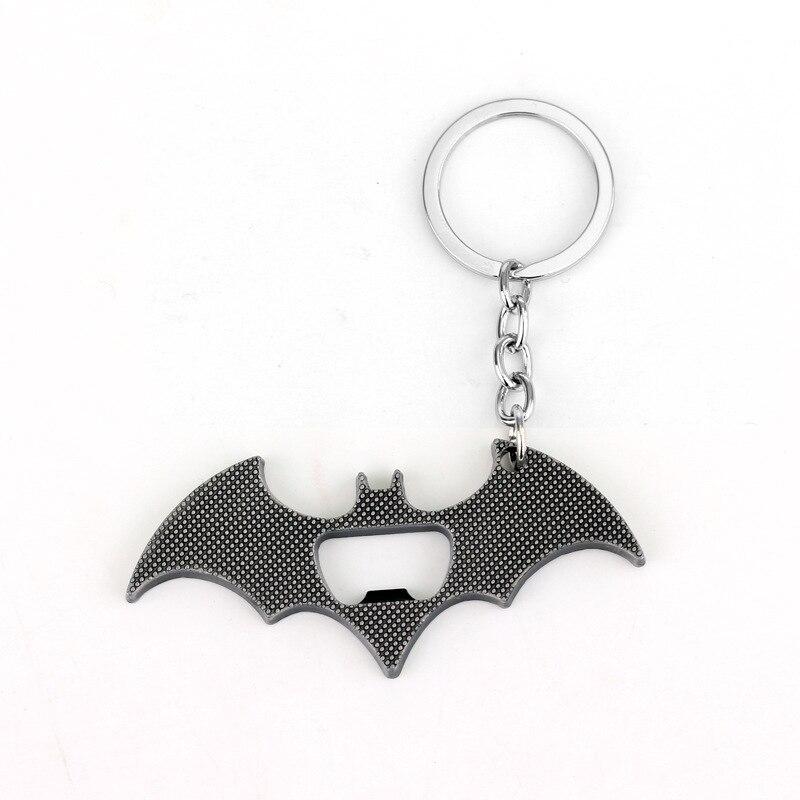 Batman Logo porte-clés le chevalier noir Batman porte-clés décapsuleur voiture porte-clés suspendus pendentifs accessoires Figure jouets poupée