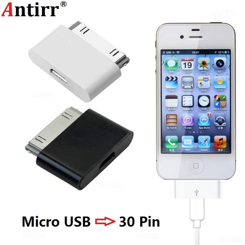 Cable Micro USB a convertidor adaptador de 30 Pines, Conector de 30 pines para teléfono Android, cargador de sincronización de datos para iPhone 4 4S 4G 3GS para iPad iPod