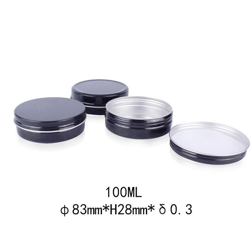 10 Uds. Caja de lata negra para decoración de uñas, herramientas de decoración, contenedor de cosméticos, caja de regalo para dulces, caja de rosca, jarras de té, caja organizadora