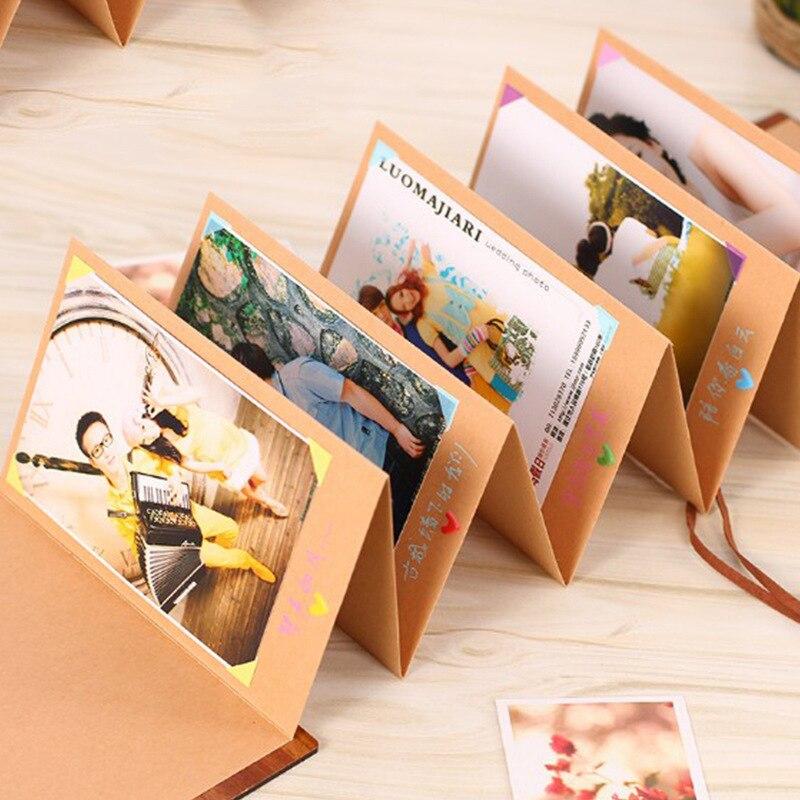 Альбом «сделай сам» складной, аккордеон альбом наклеивание творческие подарки Романтический Сувенир для пары