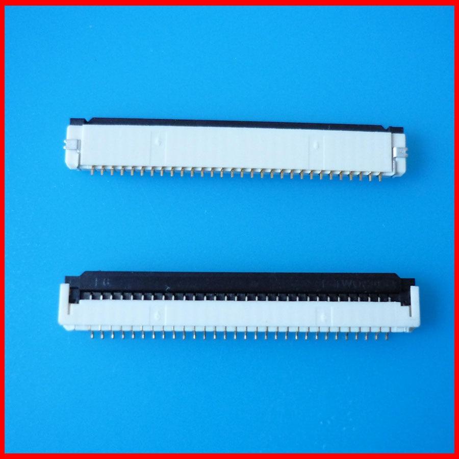 2 unids/lote FPC cable plano conector enchufe 30pin 1,0mm tono para interfaz de teclado portátil