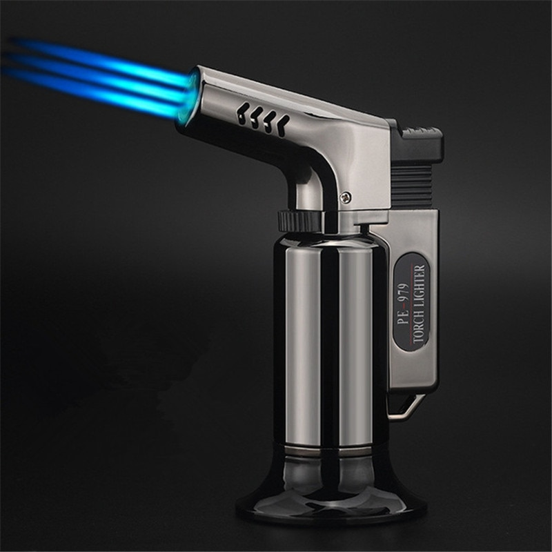 Three-tube outdoor kitchen BBQ supplies Spray Gun Electronic Lighter gas Lighter TorchTurbo Lighter
