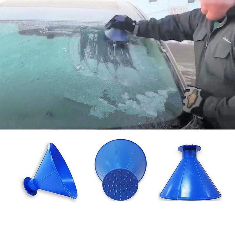 2019 New Car Scrape A Round Magic Cone-Shaped Windshield Ice Scraper Winter Snow Shovel Tool Magic Brush Cleaning tool #30