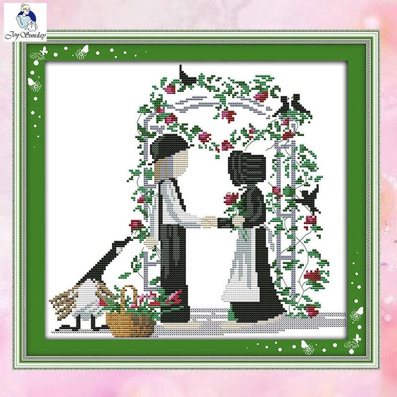 Juegos de punto de cruz JoySunday costura el amor sin fin con usted 14CT 11CT tela de algodón decoración pintura de regalo fábrica de arte al por mayor