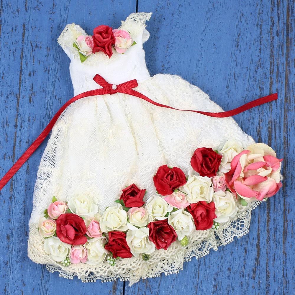 Trajes para muñeca Blyth vestido de flores rojas para 1/6 azone BJD ICY DBS