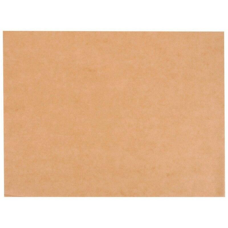 Hojas de papel pergamino-200-Cuenta de papel pergamino sin blanquear precortado para hornear, bandejas de media hoja, papel para hornear antiadherente