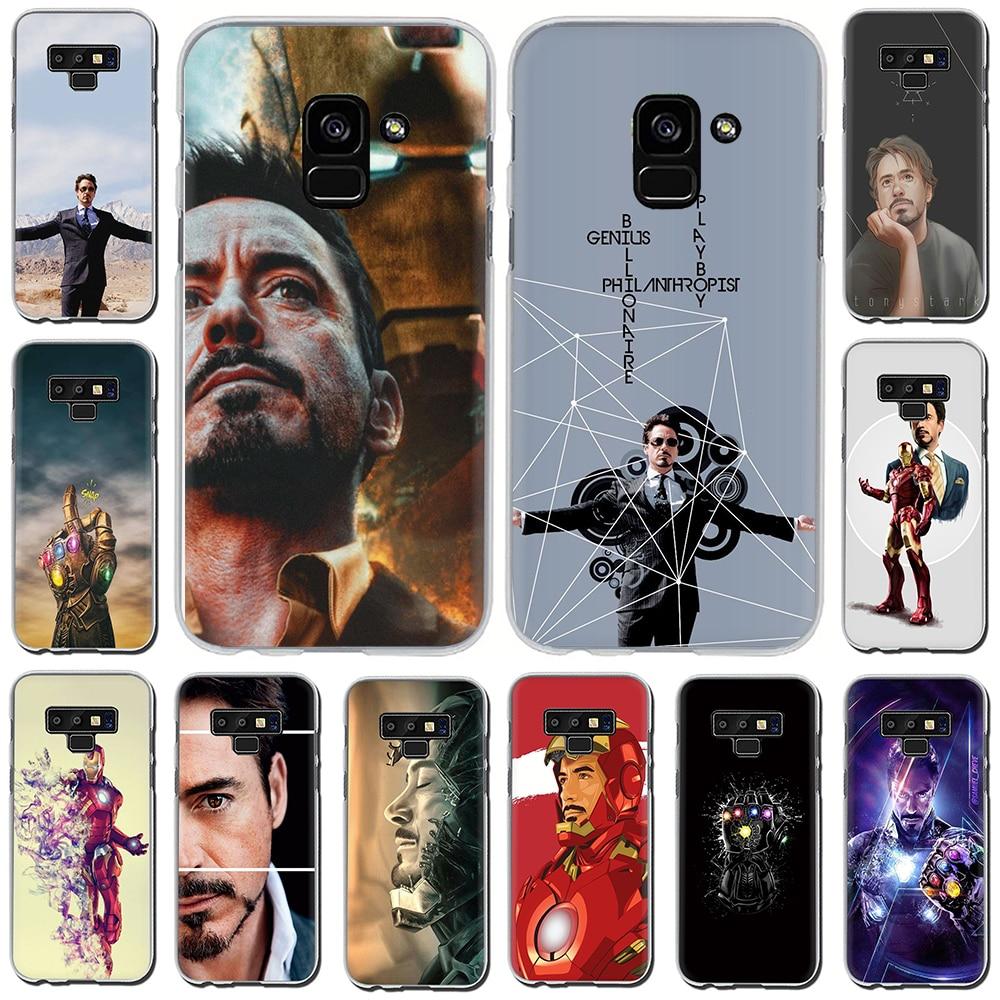 Marvel vengadores hierro hombre caso de la cubierta del teléfono duro para Samsung Galaxy A3 A5 2016 2017 A7 A8 A9 2018 10 30 40 50 70