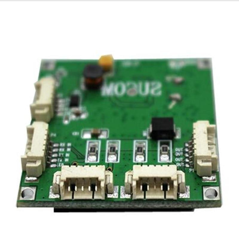Mini PBCswitch module  size 4 Ports Network Switches Pcb Board mini ethernet switch module 10/100Mbps OEM/ODM ethernet hub