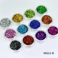12boxes laser golden silver copper 12colors multicolor mixed 2017 newest fashion nail holographic holo laser sequin mgls b3214