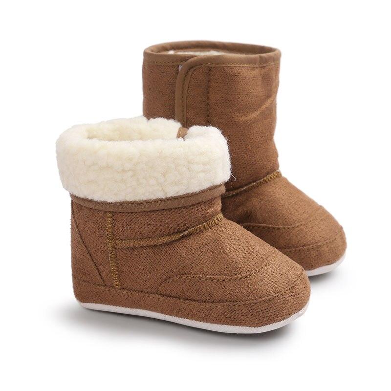 WONBO/новая зимняя супер теплая обувь для новорожденных девочек, обувь для начинающих ходить, мягкие Нескользящие ботинки на резиновой подошве для детей ясельного возраста