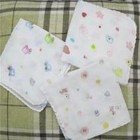5pcslot 30cm hot cotton white lace printed cartoon women square handkerchief ladies hanky children baby towel christmas gift