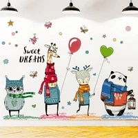 Autocollants muraux de dessins animes  doux reves  autocollants pour chambres denfants  ballons  animaux  decoration de la maison  pour chambre de bebe