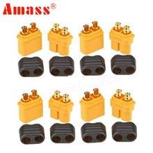 50 paires/sac Amass XT60H prise connecteur avec gaine boîtier mâle et femelle pour RC Lipo batterie FPV quadrirotor