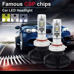 2 pces 3 cor diy 9005/9006/h4/h11/h7/h8 9012 h13 9007 lâmpadas de farol led canbus zes chip 50w 8000lm ip68 200m faixa hi/lo feixe