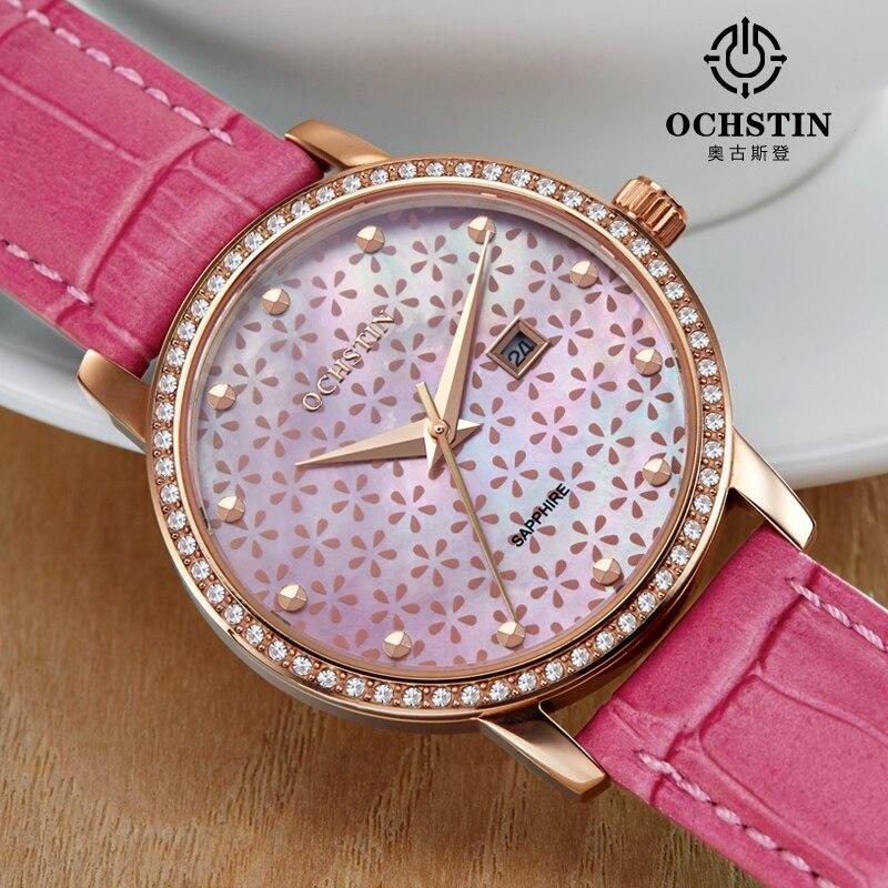 2016 nuevos relojes elegantes para mujer, reloj de pulsera de marca famosa ochtin, reloj de pulsera de cuarzo de lujo de moda para mujer, reloj de pulsera femenino
