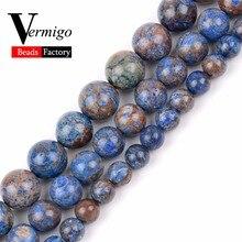 Pierres naturelles bleu Charoite perles en vrac pour la fabrication de bijoux de perles 6 8 10mm perles rondes Fit bracelet à bricoler soi-même collier bijoux