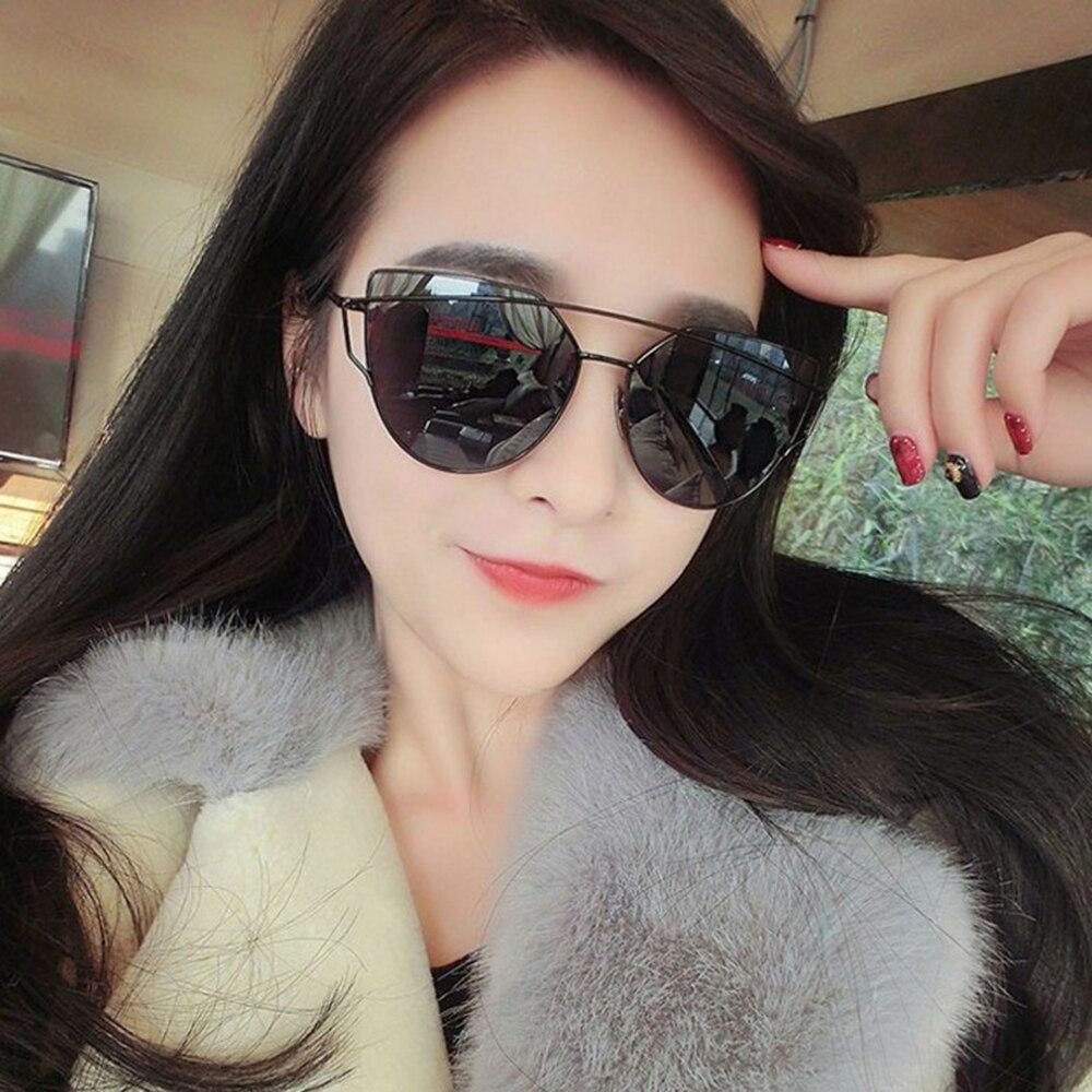 Cooyoung olho de gato óculos de sol feminina marca designer moda revestimento espelho sexy cateye senhoras óculos uv400