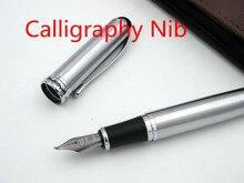 Pluma estilográfica de caligrafía de adorno plateado 750 de acero inoxidable JINHAO