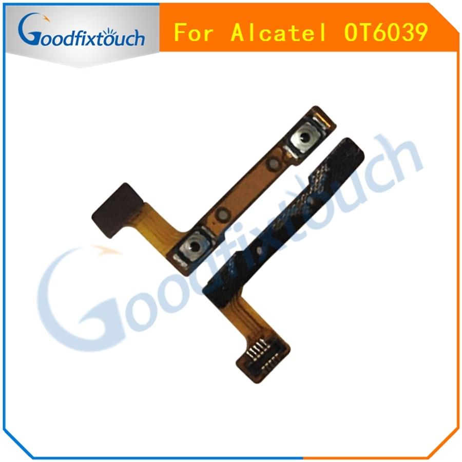 Para Alcatel One Touch Idol 3 OT6039 6039 6039A 6039 K 6039Y Volume Up Down Botão Substituição Flex Cable